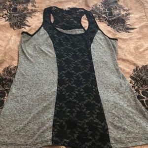 Women's lace detail tank top sz xxl